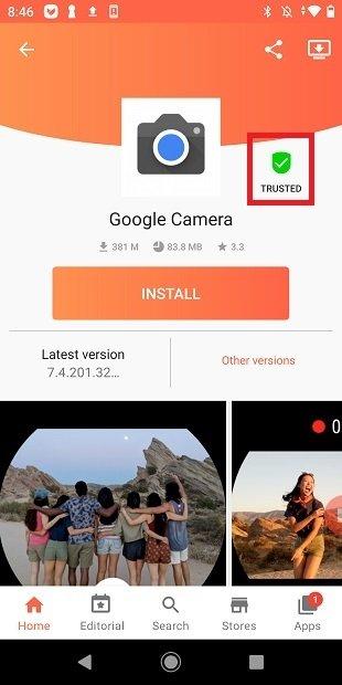 Safe application at Aptoide