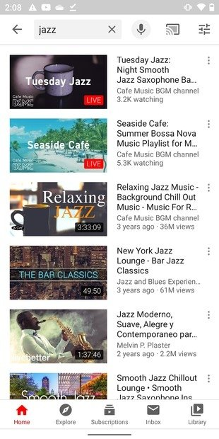 Search for a video in YouTube Vanced