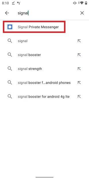 Localiser Signal dans Google Play