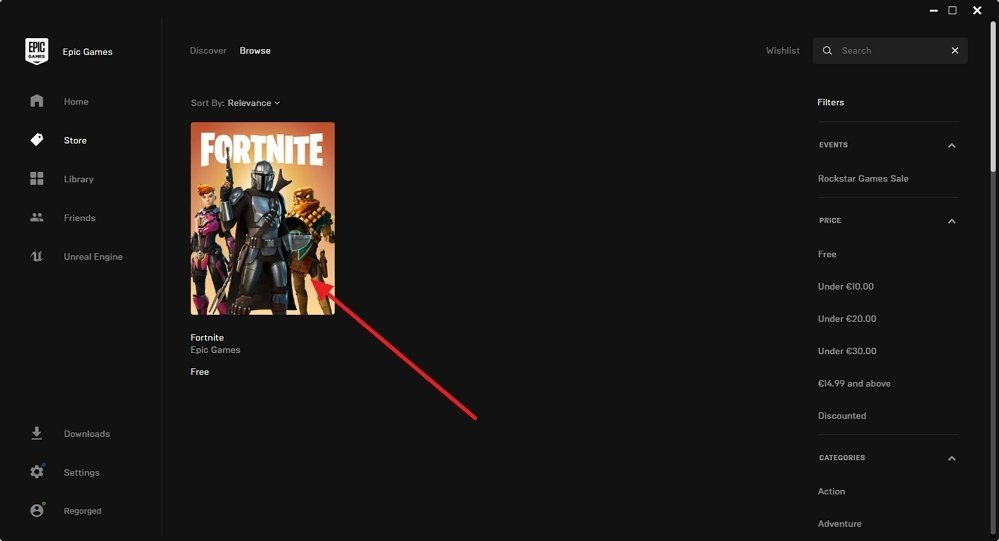 Resultados de búsqueda de Fortnite