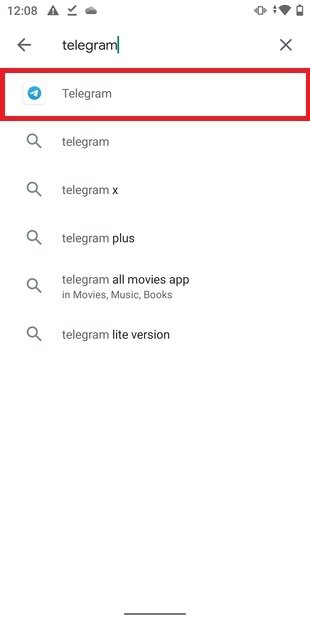 Resultados de la búsqueda en Google Play
