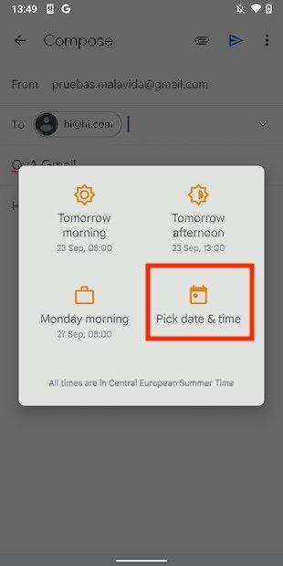 Seleccionar fecha y hora