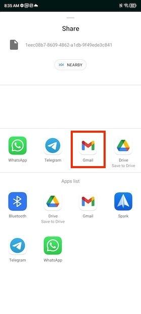 Selecionar aplicativo de e-mail