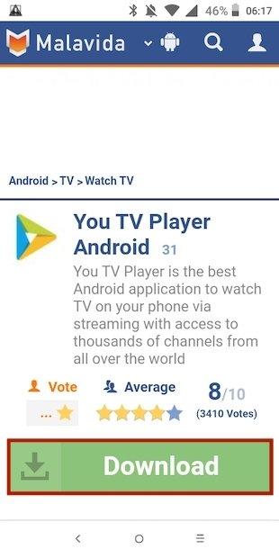 Seleccionar Descargar You TV Player