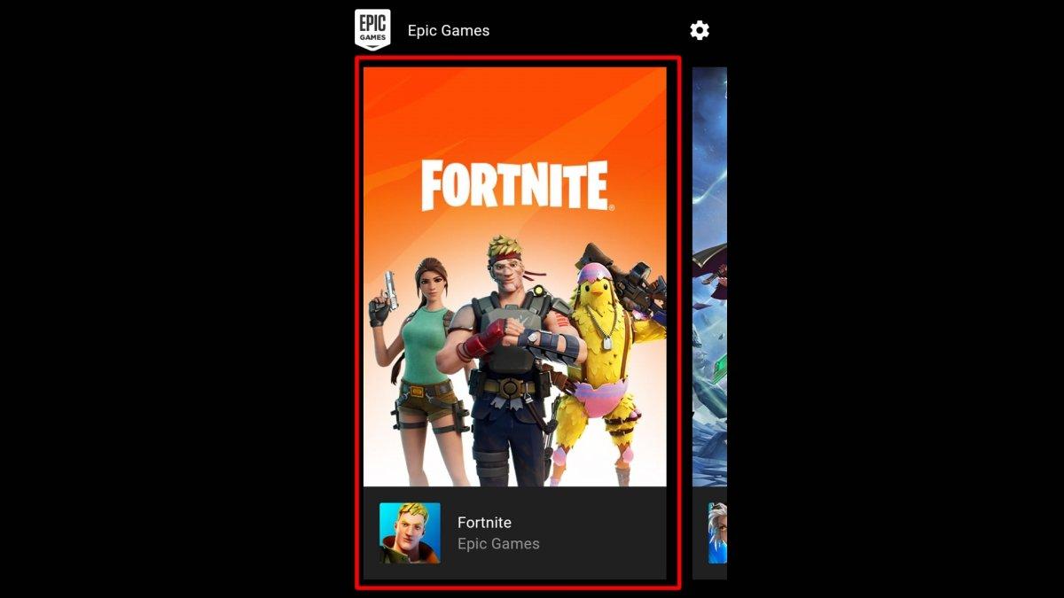Dans l'application d'Epic Games, nous cliquons sur Fortnite