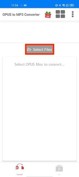 Select the files