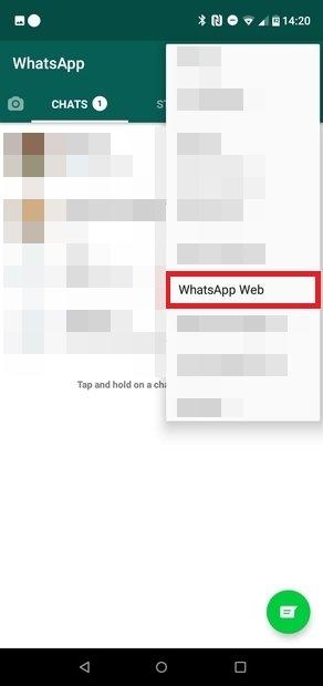 Selecciona WhatsApp Web