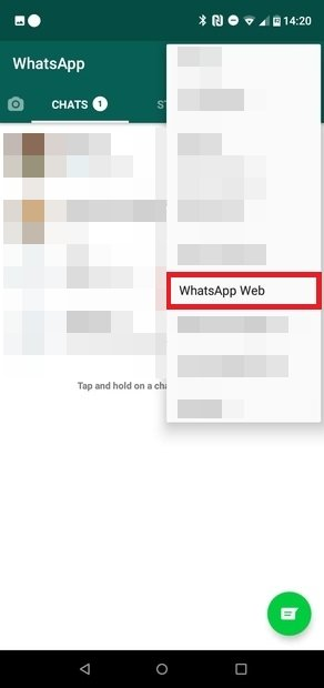 Seleziona WhatsApp Web