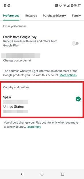 Seleção do novo país baseado no endereço IP