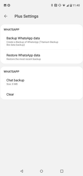 Settings in the Backup and restore section