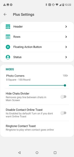Settings in the Home Screen section