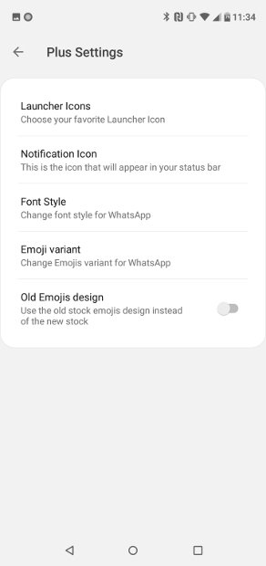 Settings in the Styles section