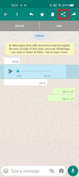 Compartilhar o áudio