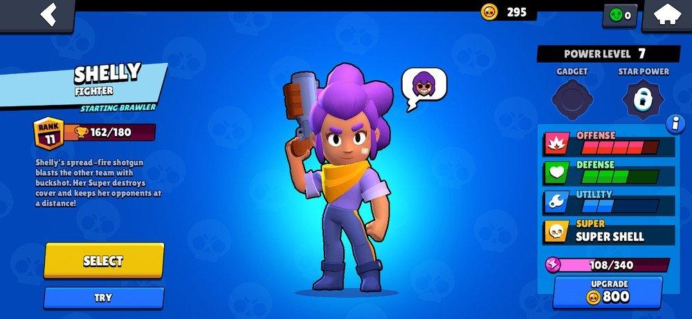 Página de personaje de Shelly