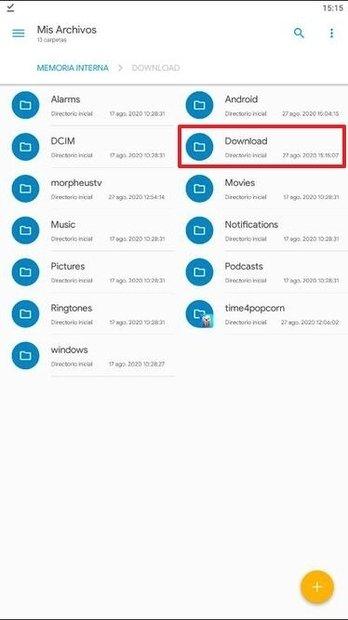 Sistema de archivos de Android