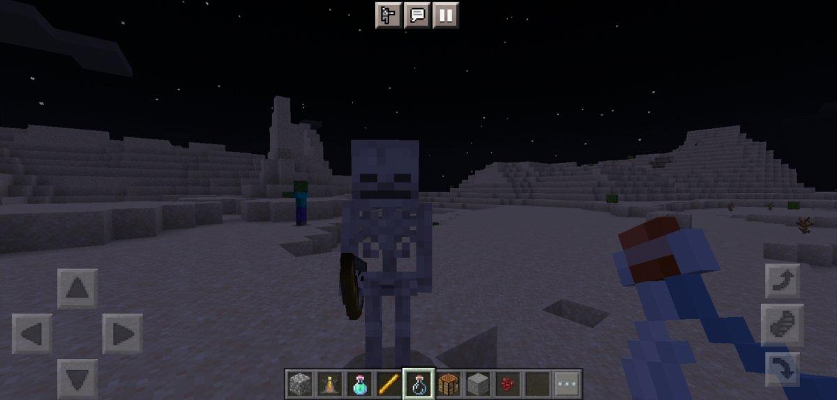 Esqueleto, um dos inimigos mais comuns do Minecraft