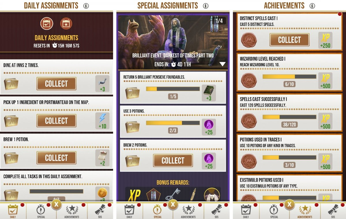 Special assignments section