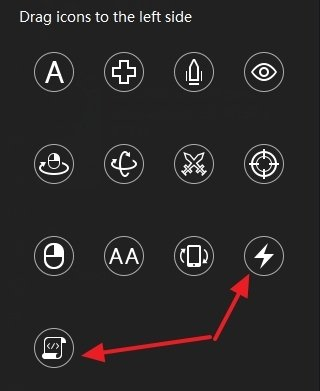 Specific buttons for macros