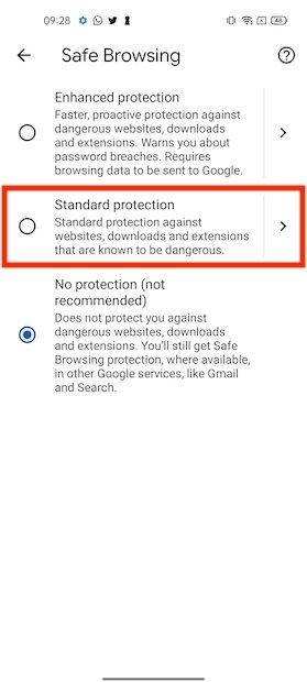 Protezione standard