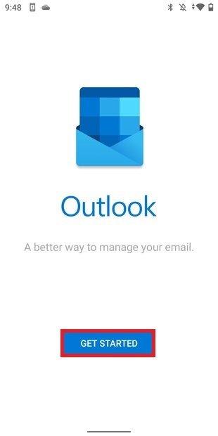 Iniciar configuración de Outlook