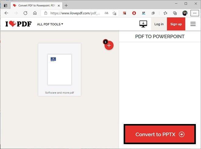 Start converting to PDF