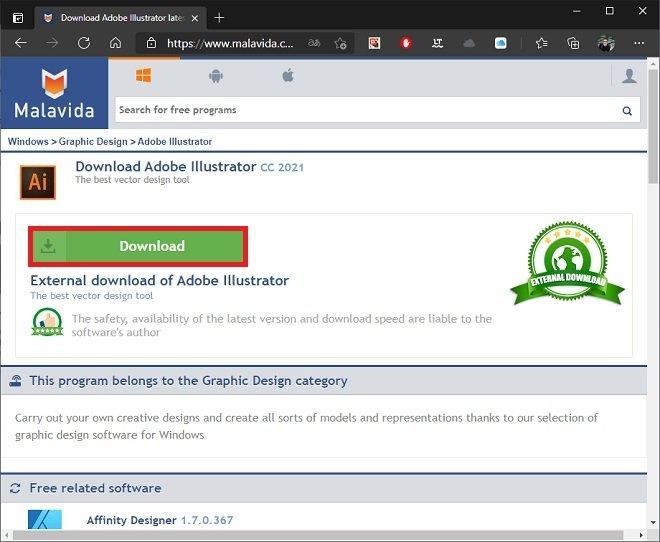 Start downloading from Malavida