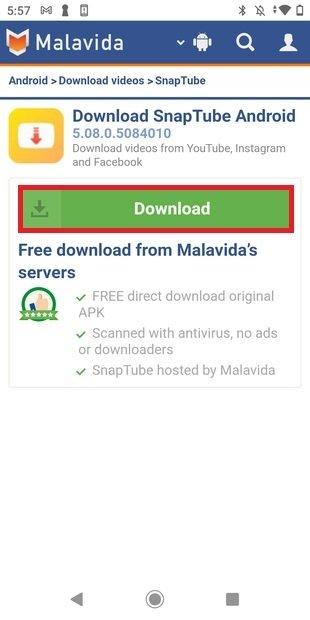 Iniciar descarga desde Malavida
