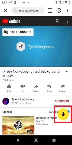 Iniciar descarga de un vídeo