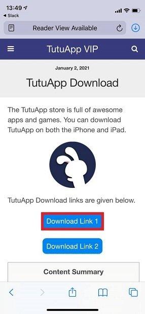 Start downloading TutuApp