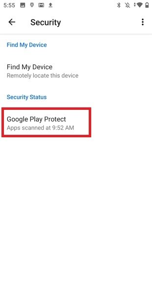 Status of Play Protect