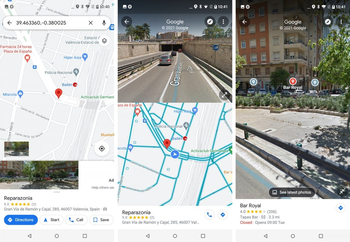 Street View in Google Maps Android