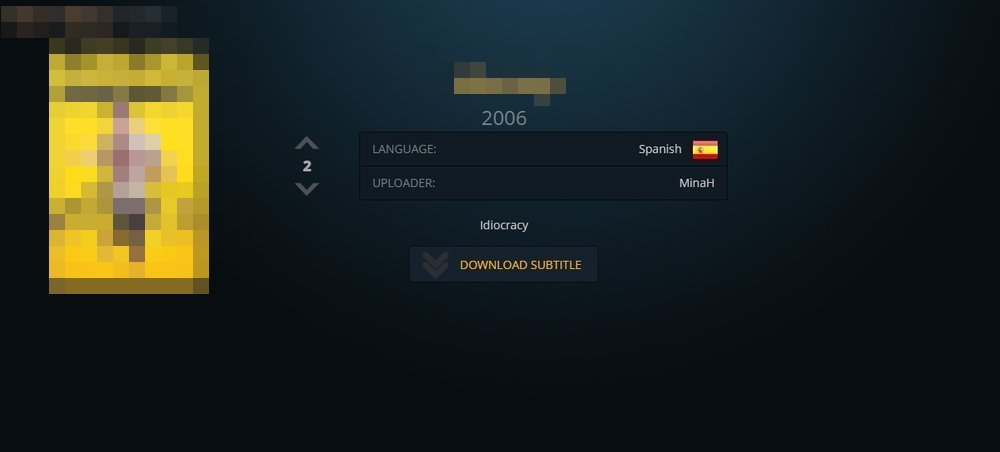 Subtitle download page