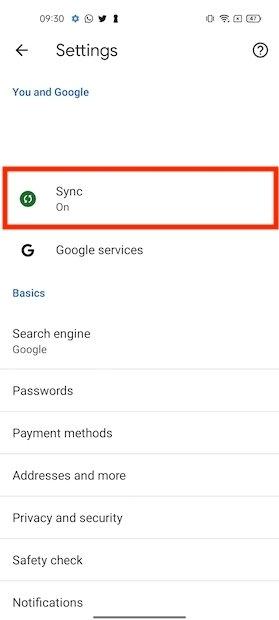 Sincronizzare con Google