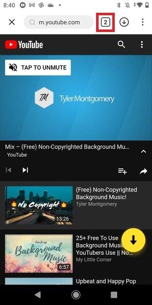 Tab-based browsing