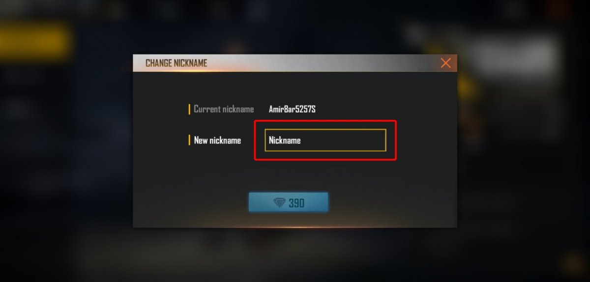 Tap on Nickname to change your user name