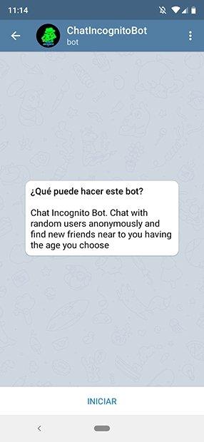 Bot Incógnito de Telegram