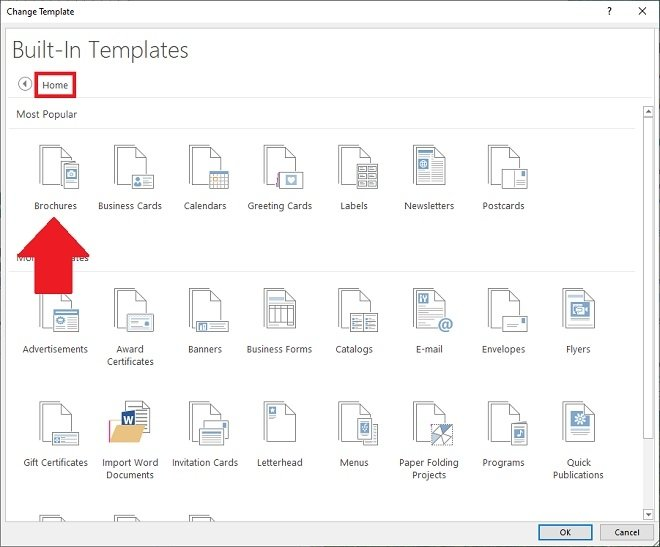 Templates to create brochures