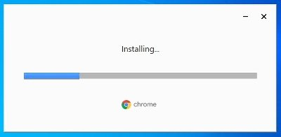The installer's loading window