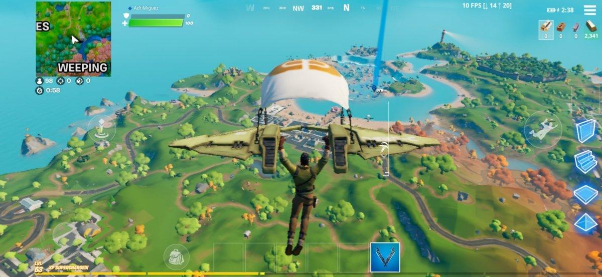 Le parachute s'activera automatiquement à une certaine distance du sol