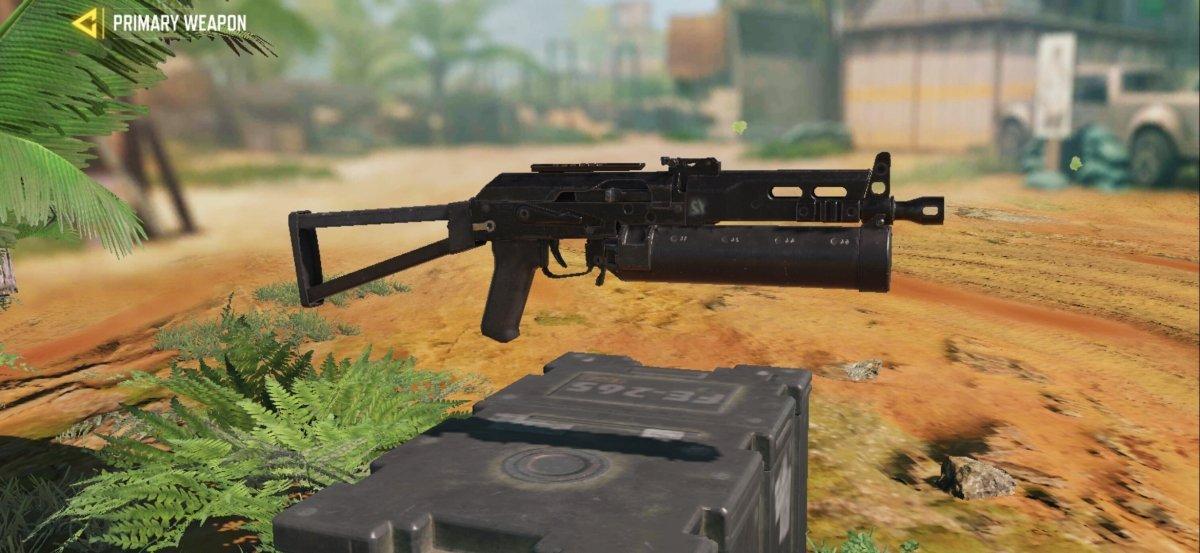 The PP19 Bizon submachine gun has a long range and high precision