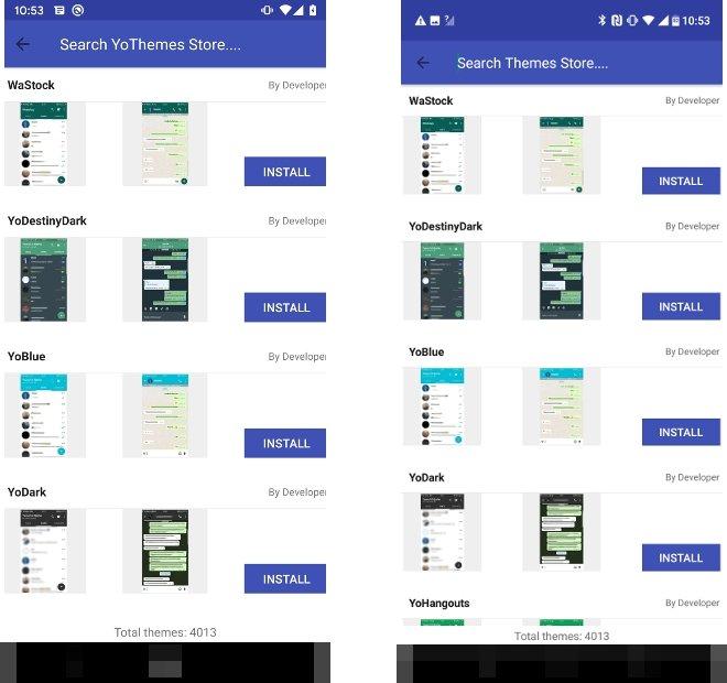 O repositório de skins é o mesmo em ambos apps