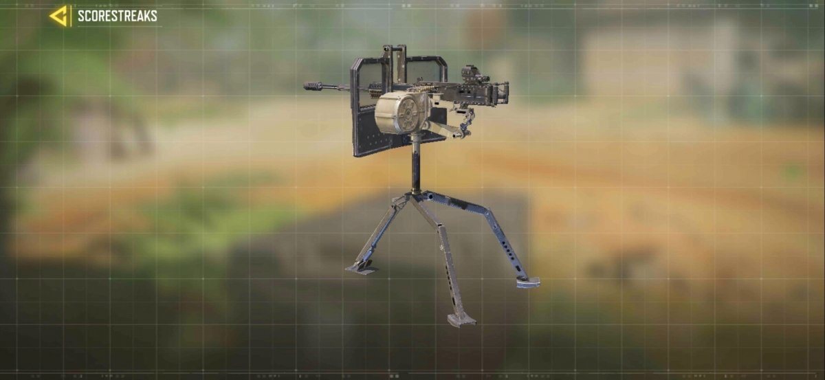 The shielded tower allows us to use a machine gun while we protect ourselves