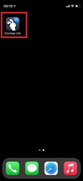 TutuApp installée sous iOS