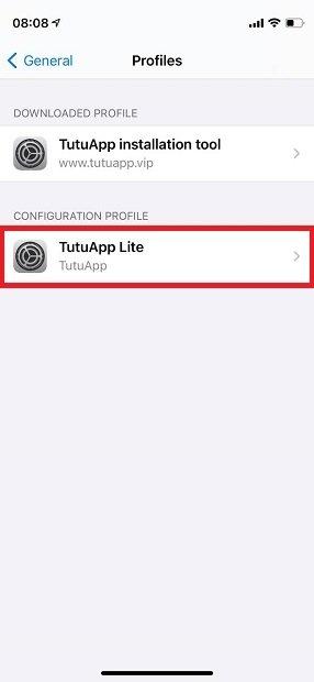 Profil de TutuApp Lite