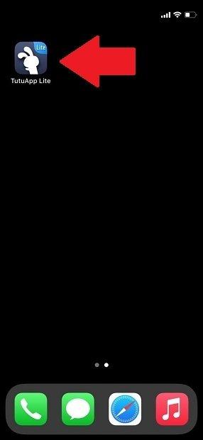 TutuApp en la pantalla de inicio