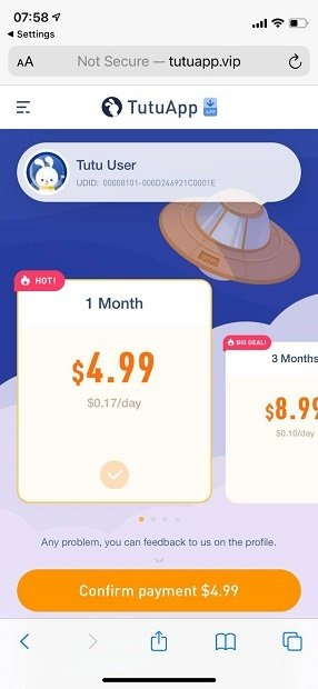 TutuApp subscription