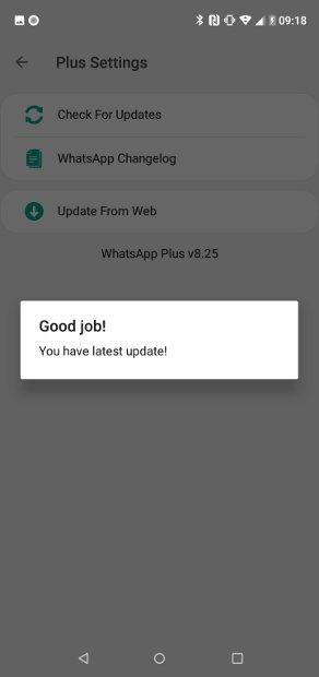 Updated version of WhatsApp Plus