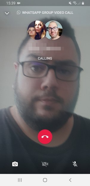 Video call connection to members of a group