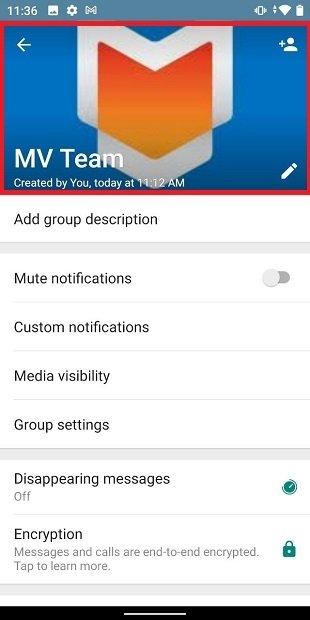 Das Gruppensymbol auf WhatsApp anschauen