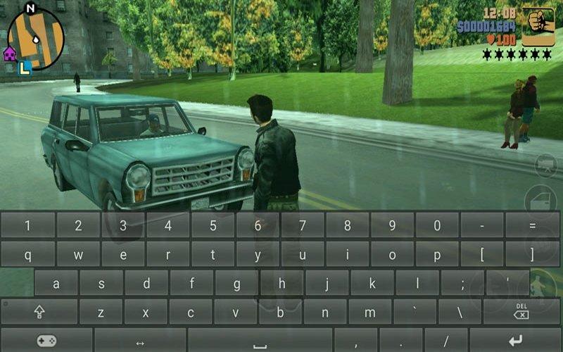 Virtual keyboard in GTA